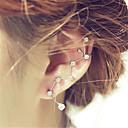 billiga Modeörhängen-Dubb Örhängen Ett örhänge Klättrare Örhängen damer Europeisk Mode örhängen Smycken Silver Till Bröllop Party Maskerad Förlovningsfest Bal Löfte