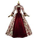 Χαμηλού Κόστους Santa Suits & Χριστούγεννα-Μαρία Αντουανέττα Rococo Victorian Μεσαίωνα Αναγέννησης 18ος αιώνας Φορέματα Τουαλέτα Γυναικεία Στολές Κόκκινο / Λαδί Πεπαλαιωμένο Cosplay Πάρτι Χοροεσπερίδα 3/4 Μήκος Μανικιού Μακρύ Μακρύ Μήκος