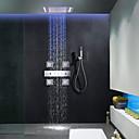 billiga Duschkranar-Duschkran - Nutida Krom Duschsystem Keramisk Ventil Bath Shower Mixer Taps / Mässing