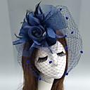 povoljno Odjeća za latino plesove-Perje / Net Fascinators / kape / Headpiece s Perje / Cvjetni print / Cvijet 1pc Vjenčanje / Special Occasion Glava
