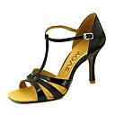 ราคาถูก รองเท้าแบบลาติน-สำหรับผู้หญิง รองเท้าเต้นรำ เลื่อม / หนังเทียม ลาติน / Salsa หัวเข็มขัด / ผูกริบบิ้น รองเท้าแตะ / ส้น ส้นแบบกำหนดเอง ตัดเฉพาะได้ แดง / ฟ้า / ทอง / Performance / หนังสัตว์ / มืออาชีพ