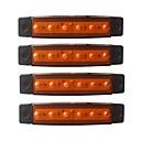 Χαμηλού Κόστους Car Exterior Lights-ZIQIAO 4pcs Αυτοκίνητο Λάμπες 1.5W SMD LED 120lm 6 εξωτερικά φώτα For Universal Universal Όλες οι χρονιές