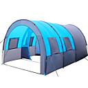 Χαμηλού Κόστους Σκηνές και υπόστεγα-8 άτομα Cort Tunel Οικογενειακή Σκηνή Κατασκηνώσεων Εξωτερική Ελαφρύ Αντιανεμικό Ικανότητα να αναπνέει Μονής επίστρωσης Πόλος Σωλήνας και τούνελ Camping Σκηνή 1000-1500 mm για