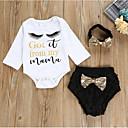 billige Sett med babyklær-Baby Jente Aktiv Daglig Geometrisk Langermet Kort Bomull Tøysett Hvit