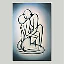 Χαμηλού Κόστους Φώτα νησί-Hang-ζωγραφισμένα ελαιογραφία Ζωγραφισμένα στο χέρι - Αφηρημένο Άνθρωποι Μοντέρνα Περιλαμβάνει εσωτερικό πλαίσιο / Επενδυμένο καμβά