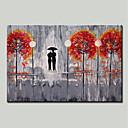 povoljno Slike za cvjetnim/biljnim motivima-Hang oslikana uljanim bojama Ručno oslikana - Pejzaž Cvjetni / Botanički Moderna Uključi Unutarnji okvir / Prošireni platno