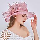 povoljno Party pokrivala za glavu-Žene Kentucky Derby Jednobojni Zabava Vjenčanje Perlice Nabori Mrežica,Čipka-Ribički šešir Šešir širokog oboda Sva doba Blushing Pink Crvena Lila-roza