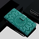 billige Etuier/deksler til Huawei-Etui Til Apple iPhone XS / iPhone XR / iPhone XS Max Lommebok / Kortholder / med stativ Heldekkende etui Blomsternål i krystall Hard PU Leather