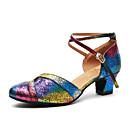 Χαμηλού Κόστους Ημέρα επιστροφής στο σπίτι-Γυναικεία Μοντέρνα παπούτσια / Αίθουσα χορού Λουστρίν Τακούνια Πούλιες Πυκνό τακούνι Παπούτσια Χορού Ουράνιο Τόξο / Εξάσκηση / EU40