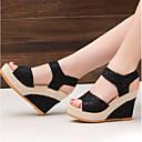 ราคาถูก จิ๊กซอว์3D-สำหรับผู้หญิง รองเท้าแตะ รองเท้าส้นตึก ตารางไขว้ ความสะดวกสบาย ฤดูหนาว สีดำ / ผ้าขนสัตว์สีธรรมชาติ / EU39