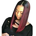 billiga Ankelkedja-Remy-hår Spetsfront Peruk Bob-frisyr Kort Bob Kardashian stil Brasilianskt hår Rak Peruk 130% Hårtäthet Dam Korta Äkta peruker med hätta beikashang
