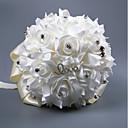 Χαμηλού Κόστους Λουλούδια Γάμου-Λουλούδια Γάμου Μπουκέτα Γάμου Μεταξένιο Σατέν / Με Χάντρες / Αφρός 11-20 ίντσες
