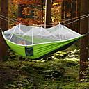 billiga Tält och vindskydd-Campinghammock med myggnät Dubbel hängmatta Utomhus Bärbar Andningsfunktion Anti-mygg Parachute Nylon med karabiner och trädband för 2 personer Camping Jakt Fiske Fruktgrön + Mörkgrön Himmelsblå Röd
