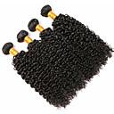 Χαμηλού Κόστους Εξτένσιος μαλλιών με φυσικό χρώμα-4 πακέτα Περουβιανή Σγουρά Φυσικά μαλλιά Υφάνσεις ανθρώπινα μαλλιών Προέκταση δέσμη μαλλιών 8-28 inch Μαύρο Φυσικό Χρώμα Υφάνσεις ανθρώπινα μαλλιών Μαλακό Υφαντό Φυσικό Επεκτάσεις ανθρώπινα μαλλιών