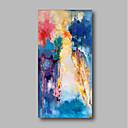 ราคาถูก ภาพวาดแอบสแตรก-ภาพวาดสีน้ำมันแขวนทาสี มือวาด - แอ็ปสแต็ก ภูมิประเทศ ร่วมสมัย รวมถึงด้านในกรอบ / ผ้าใบยืด