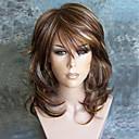 Χαμηλού Κόστους Συνθετικές περούκες χωρίς σκουφί-Συνθετικές Περούκες Σγουρά Minaj Κούρεμα με φιλάρισμα Περούκα Μπορντώ Μακρύ Medium Brown / Φράουλα Ξανθιά Συνθετικά μαλλιά Γυναικεία Πάρτι Μπορντώ