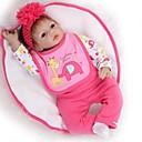 povoljno Sportske igračke-NPKCOLLECTION NPK DOLL Autentične bebe Djevojka lutka Za ženske bebe 24 inch Silikon - vjeran Dar Sigurno za djecu Non Toxic Uvučene i zapečene nokte Prirodni ton kože Dječjom Djevojčice Igračke za