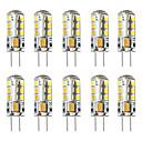billige Kornpærer med LED-brelong 10 stk g4 3w 24led smd2835 kornlys 12v hvit varm hvit