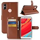 baratos Cobertura de Sofa-Capinha Para Xiaomi Redmi Note 5A / Xiaomi Redmi Note 5 Pro / Xiaomi Redmi Note 5 Carteira / Porta-Cartão / Flip Capa Proteção Completa Sólido Rígida PU Leather / Xiaomi Redmi Note 4X / Xiaomi Mi 6
