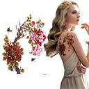 ราคาถูก สติกเกอร์แทททู-3 pcs สติกเกอร์รอยสัก รอยสักชั่วคราว ดอกไม้ ศิลปะร่างกาย ไหล่