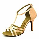 ราคาถูก รองเท้าแบบลาติน-สำหรับผู้หญิง รองเท้าเต้นรำ ซาติน ลาติน / บอลล์รูม หินประกาย / หัวเข็มขัด รองเท้าแตะ / ส้น ตัดเฉพาะได้ เหลือง / สีบานเย็น / ม่วง / EU36