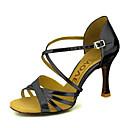ราคาถูก เสื้อผ้าสำหรับสุนัข-สำหรับผู้หญิง รองเท้าเต้นรำ หนังเทียม ลาติน หินประกาย / หัวเข็มขัด รองเท้าแตะ ส้นแบบกำหนดเอง ตัดเฉพาะได้ เงิน / น้ำเงิน / ทอง / EU38