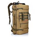 ราคาถูก กระเป๋านักล่า-50 L แบ็คแพ็ค กระเป๋าเป้ยุทธวิธีทหาร กันน้ำฝน ความต้านทานการสึกหรอ กลางแจ้ง Military เดินทาง ฟอร์ด การอำพราง Rough Black สีกากี / ใช่