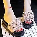 ราคาถูก รองเท้าแตะ-รองเท้าแตะสตรี รองเท้าใส่ในบ้าน / บ้านรองเท้าแตะ Ordinary / ไม่เป็นทางการ Plastic ประดับด้วยลูกปัด รองเท้า