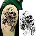 billiga ärm tatuering-3 pcs Tatueringsklistermärken tillfälliga tatueringar Totemserier Body art arm