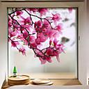 Χαμηλού Κόστους Μεμβράνη Παραθύρου & Αυτοκόλλητα-Window Film & αυτοκόλλητα Διακόσμηση Ματ / Σύγχρονο Λουλούδι PVC Αυτοκόλλητο παραθύρου / Ματ