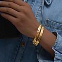 billiga Modearmband-2pcs Dam Armringar Manschett Armband Skulptur damer Etnisk Italienska Guldpläterad Armband Smycken Guld Till Party Gåva
