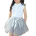 billiga Reborn-dockor-Barn Flickor Spets Dagligen Vit Lappverk Ärmlös Normal Klädesset Vit