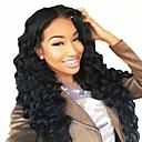 billiga tatuering klistermärken-Remy-hår Hel-spets Peruk Frisyr i lager stil Brasilianskt hår Vågigt Svart Peruk 130% Hårtäthet med babyhår Naturlig hårlinje 100 % handbundet Dam Lång Äkta peruker med hätta Aili Young Hair