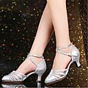 Χαμηλού Κόστους Ημέρα επιστροφής στο σπίτι-Γυναικεία Μοντέρνα παπούτσια / Αίθουσα χορού Πολυεστέρας Τακούνια Κουβανικό Τακούνι Εξατομικευμένο Παπούτσια Χορού Χρυσό / Ασημί / Κόκκινο / Επίδοση / EU39