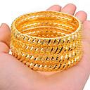 olcso Divat karkötő-4db Női Karperecek Bilincs karkötők Szobor hölgyek Etno Dubai Olasz Arannyal bevont Karkötő ékszerek Arany / Sárga Kompatibilitás Parti Ajándék