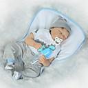 billiga Reborn-dockor-NPKCOLLECTION NPK DOLL Reborn-dockor Babypojkar 24 tum Silikon - Nyfödd Gåva Handgjord Barnsäkert Ogiftig Tippade och förseglade naglar Unge Pojkar / Flickor Leksaker Present