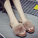 Χαμηλού Κόστους Παντόφλες-Γυναικείες Παντόφλες Παντόφλες Συνηθισμένο / Καθημερινό Γούνα Μινκ Μονόχρωμη Παπούτσια