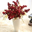 Χαμηλού Κόστους Ψεύτικα Λουλούδια & Βάζα-Ψεύτικα λουλούδια 5 Κλαδί Rustic Λουλούδια Γάμου ΧΡΙΣΤΟΥΓΕΝΝΙΑΤΙΚΟ ΔΕΝΤΡΟ Αιώνια Λουλούδια Λουλούδι για Τραπέζι