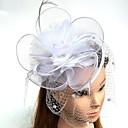 povoljno Party pokrivala za glavu-Perje / Net Fascinators / kape / Headpiece s Perje / Cvjetni print / Cvijet 1pc Vjenčanje / Special Occasion Glava