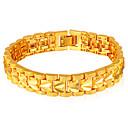 Χαμηλού Κόστους Ρούχα τρεξίματος-Γυναικεία Βραχιόλια με Αλυσίδα & Κούμπωμα Σχοινί Καρδιά κυρίες Μοντέρνα Χαλκός Βραχιόλι Κοσμήματα Χρυσό / Ασημί Για Δώρο Καθημερινά