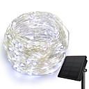 ราคาถูก สายไฟ LED-KWB 10เมตร ไฟสาย 100 ไฟ LED 1 ตั้งวงเล็บยึด ขาวนวล / White / น้ำเงิน Waterproof / พลังงานแสงอาทิตย์ / Creative พลังงานแสงอาทิตย์ 1set