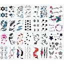 billiga Temporära tatueringar-30 pcs Tatueringsklistermärken tillfälliga tatueringar Totemserier / Djurserier / Blomserier Body art arm