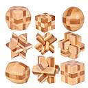 Χαμηλού Κόστους Περούκες από Ανθρώπινη Τρίχα-Τρισδιάστατα ξύλινα παζλ Δημιουργικό / Μπάλα Focus Παιχνίδι Ξύλινο / Μπαμπού 1 pcs Ενήλικες Όλα Δώρο