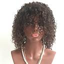 זול פיאות תחרה משיער אנושי-שיער ראמי חזית תחרה פאה תספורת שכבות Rihanna בסגנון שיער ברזיאלי מתולתל שחור פאה 130% צפיפות שיער עם שיער בייבי שיער טבעי בגדי ריקוד נשים קצר בינוני פיאות תחרה משיער אנושי Aili Young Hair