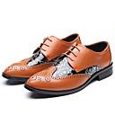 ราคาถูก รองเท้าOxfordสำหรับผู้ชาย-สำหรับผู้ชาย รองเท้าอย่างเป็นทางการ Synthetics ตก รองเท้า Oxfords สีดำ / สีเหลือง / สีน้ำตาล / งานแต่งงาน / Novelty Shoes