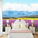 povoljno Zidne tapete-lavandin cvijet pogled na more custom wallcovering 3d zidne pozadine pogodna za spavaću sobu restoran