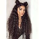 Χαμηλού Κόστους Περούκες από Ανθρώπινη Τρίχα-Συνθετικές μπροστινές περούκες δαντέλας Σγουρά Κούρεμα με φιλάρισμα Δαντέλα Μπροστά Περούκα πολύ μακριά Μαύρο Καστανό Συνθετικά μαλλιά Γυναικεία / Ανθεκτικό στη Ζέστη / Φυσική γραμμή των μαλλιών