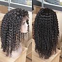 Χαμηλού Κόστους Χωρίς κάλυμμα-Φυσικά μαλλιά Δαντέλα Μπροστά Χωρίς Κόλλα Δαντέλα Μπροστά Περούκα στυλ Βραζιλιάνικη Ίσιο Kinky Curly Περούκα 130% Πυκνότητα μαλλιών / Φυσική γραμμή των μαλλιών / Περούκα αφροαμερικανικό στυλ
