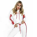 Χαμηλού Κόστους Ρούχα τρεξίματος-Γυναικεία Streetwear Κορδόνι Sweatsuit 2pcs Χειμώνας Τρέξιμο Ενεργή εκπαίδευση ΑΘΛΗΤΙΚΑ ΡΟΥΧΑ Ριγέ Διατηρείτε Ζεστό Ρούχα σύνολα Μακρυμάνικο Ρούχα Γυμναστικής Μικροελαστικό Κανονικό