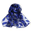billiga Wraps & halsdukar för kvinnor-Dam Rektangelhalsduk - Konstsilke / Polyester / Spets Enfärgad / Blommig / Geometrisk Spets / Nät / Vår / Sommar